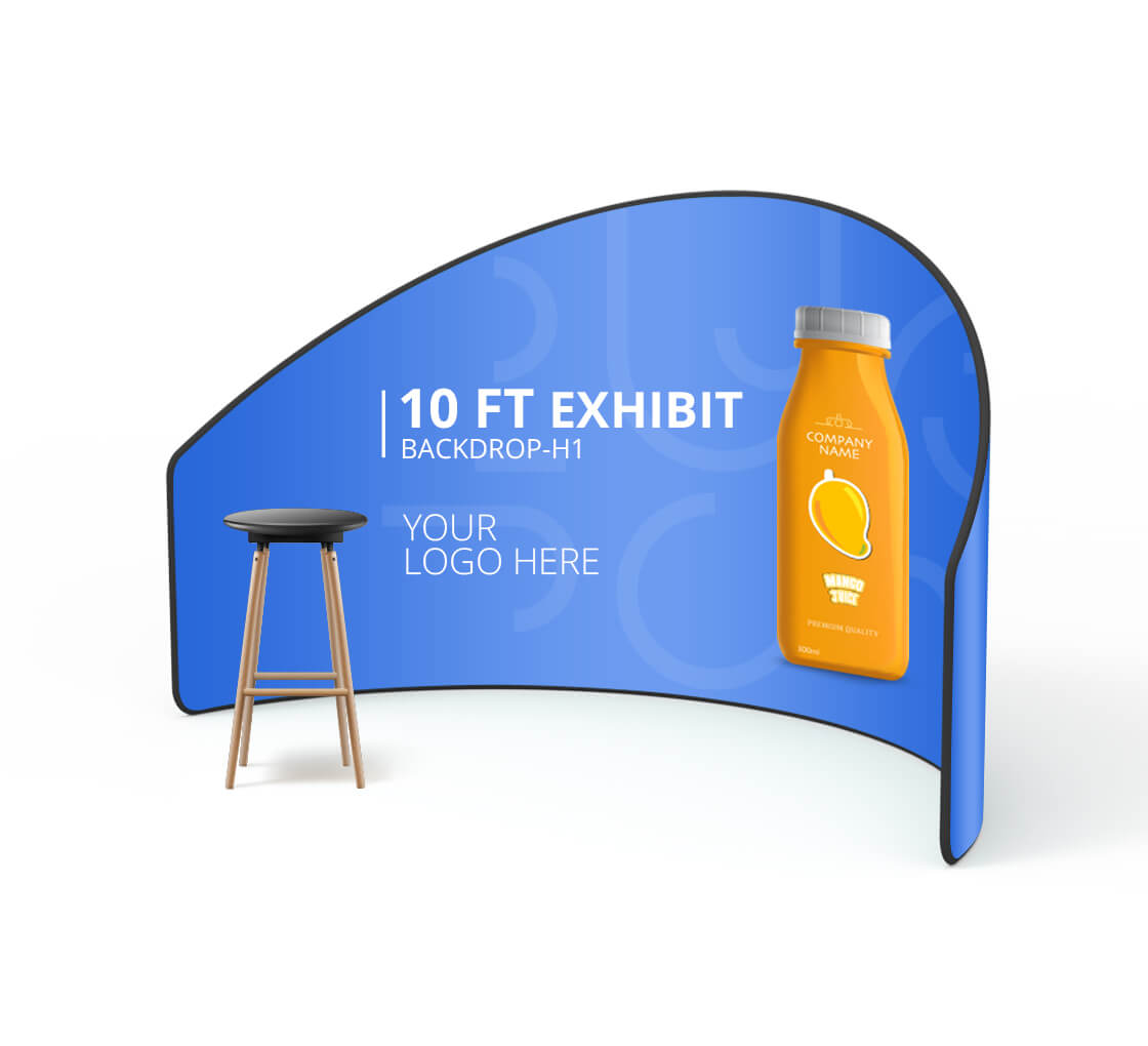 10 ft Exhibit Backdrop H1