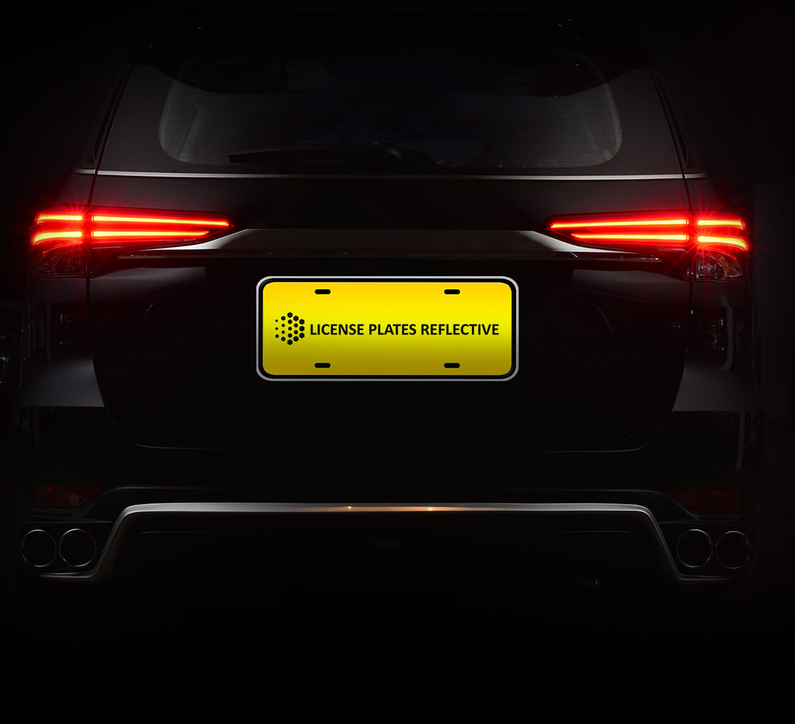 Acrylic License Plate Tag Vinyl and Print Ready and Very Durable! Reflective