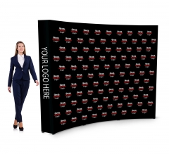 10 ft x 8 ft Step and Repeat Fabric Pop Up Curved Display