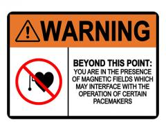 ANSI WARNING Beyond This Point Magnetic Fields Sign