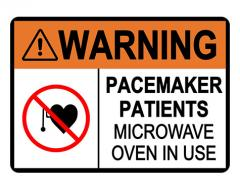 ANSI WARNING Pacemaker Patients Sign