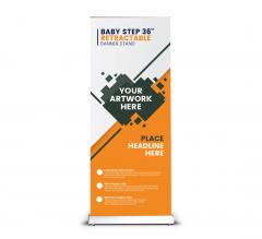 Baby Step 36'' Retractable Banner Stand