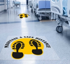 Maintain a Safe Distance Floor Decals