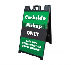 Curbside Pick Up Only Signicade Black