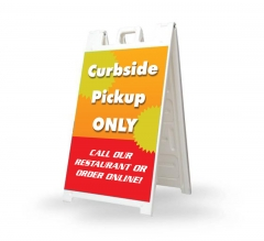 Curbside Pick Up Only Signicade White