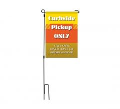 Curbside Pick Up Only Garden Flags