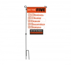 Do the Five Help Stop Spread Coronavirus Garden Flags