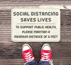 Social Distancing Saves Lives Indoor Floor Mats