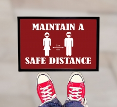 Maintain a Safe Distance Outdoor Floor Mats