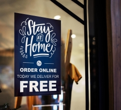 Stay at Home Order Online Window Clings