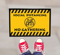 Social Distancing No Gathering Outdoor Floor Mats