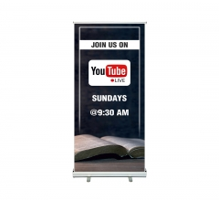 Join us on Youtube Live Roll up Banner Stands