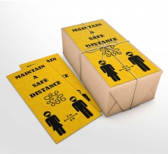 Maintain a Safe Distance Business Flyers (Non folded)