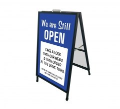 We are Still Open Metal Frames