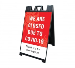 We are Closed due to Covid-19 Signicade Black