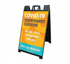 Covid-19 Temporary Closure Signicade Black