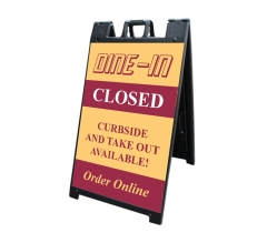Dine In Closed Signicade Black