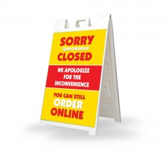 Sorry Temporarily Closed Order Online Signicade White