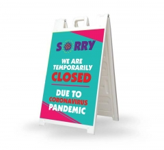 Sorry We are Temporarily Closed Signicade White
