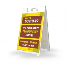 New Temporary Hours due to Covid-19 Signicade White