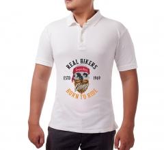 Custom White Polo Shirt - Printed