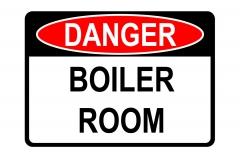 Danger Boiler Room Sign