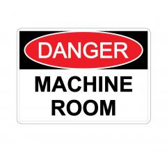 Danger Machine Room Sign