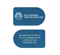 Half Circle Side Business Cards