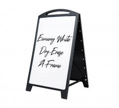 Economy White Dry-Erase A-Frame