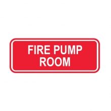 Fire Pump Room Sign