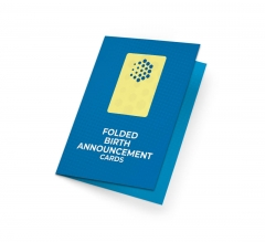 Folded Birth Announcement Cards