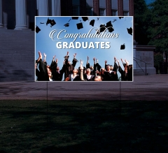 Reflective Graduation Yard Signs