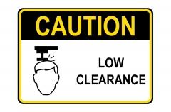 OSHA CAUTION Low Clearance Sign