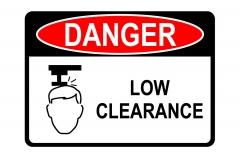 OSHA DANGER Low Clearance Sign