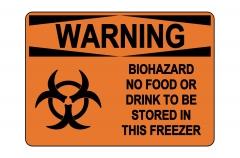 OSHA WARNING Biohazard No Food Or Drink Sign