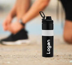 Personalised Gripco Stainless Steel Water Bottle with Silicon Band