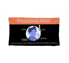 Polyester Fabric Precaution Banners