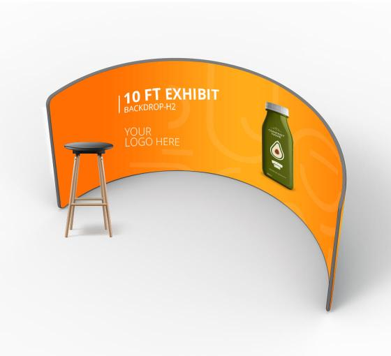 10 ft Exhibit Backdrop H2