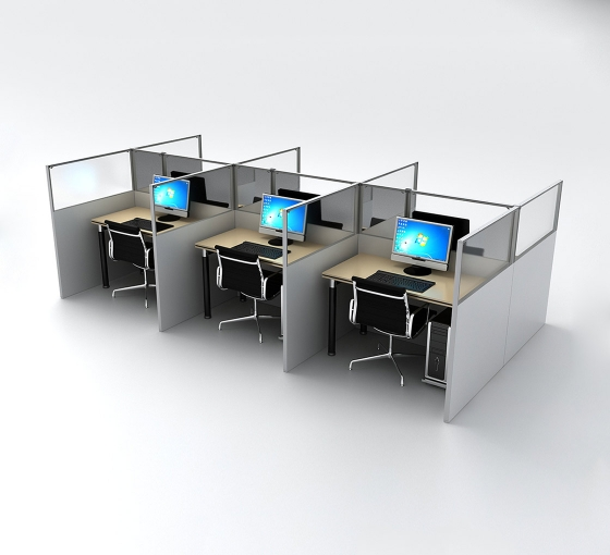 SEG Office Desk Partitions - 6 Desk