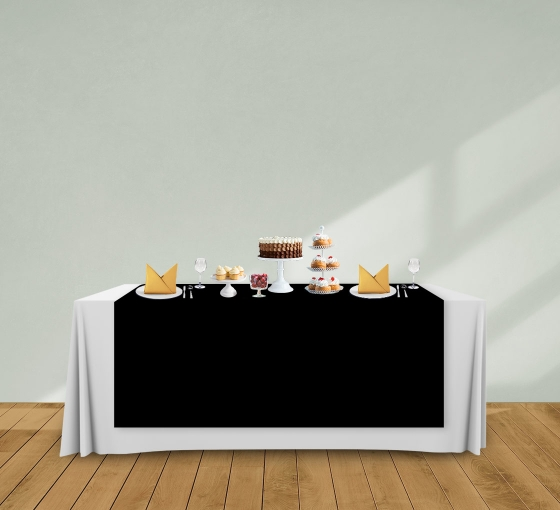 5' x 6' Table Runners - Black