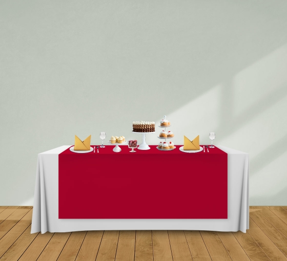 5' x 6' Table Runners - Red