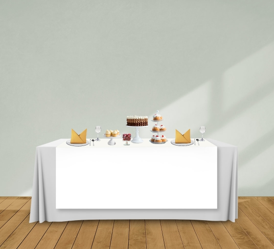 5' x 6' Table Runners - White