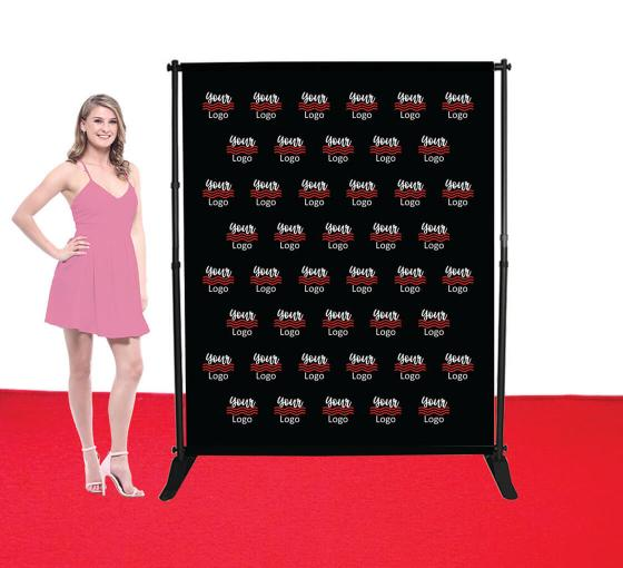 5 ft x 6 ft Step and Repeat Adjustable Banner Stands