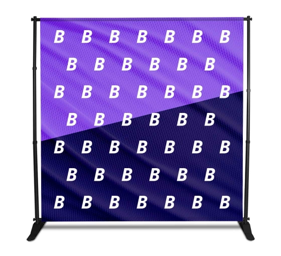 8x8 Step and Repeat Fabric Banners