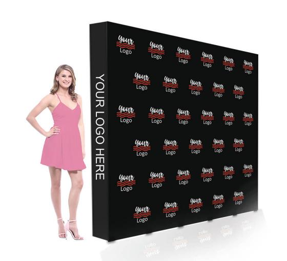 8 ft x 8 ft Step and Repeat Fabric Pop Up Straight Display