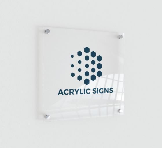 Clear Acrylic Signs
