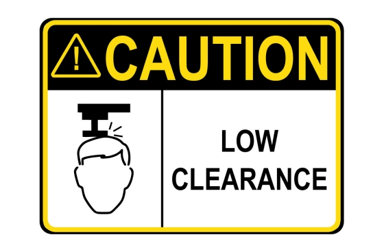 ANSI CAUTION Low Clearance Sign