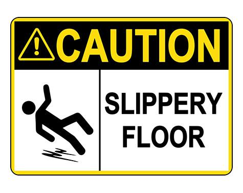 ANSI CAUTION Slippery Floor Sign