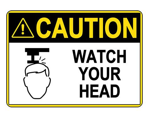 ANSI CAUTION Watch Your Head Sign