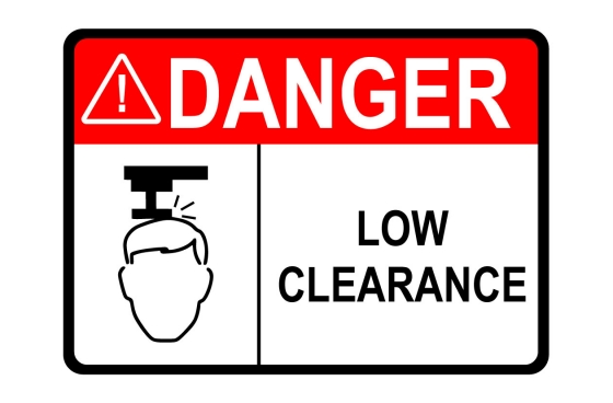 ANSI DANGER Low Clearance Sign